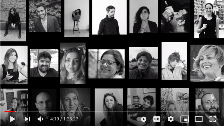 Image of 21 artists featured in The Beirut Call